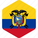 country, ecuador, flag, flags, globe, national, world icon
