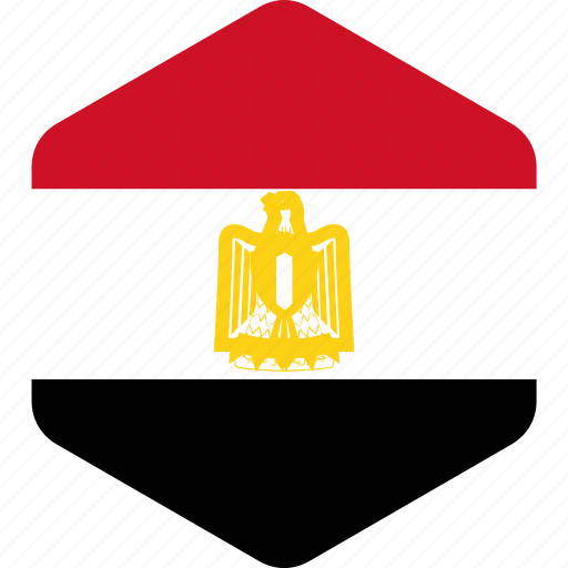 country, egypt, flag, flags, hexagone, national, world icon