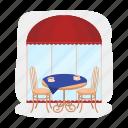 bar, cafe, furniture, interior, restaurant, table, table setting
