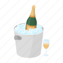 alcohol, bucket, champagne, drink, glass, ice, wine icon