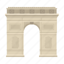 arc de triomphe, arch, architecture, landmark, paris icon