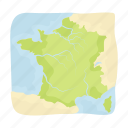 country, france, geography, location, map, territory icon