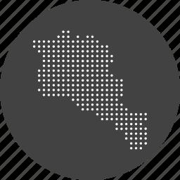 armenia, armenian, asian, country, location, map, navigation icon