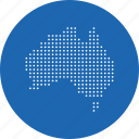 australia, continent, country, location, map, navigation icon
