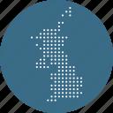 country, european, kingdom, map, united icon