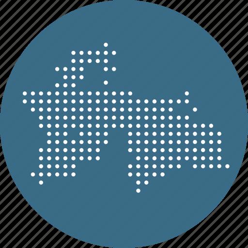 asian, country, map, nation, tajikistan icon