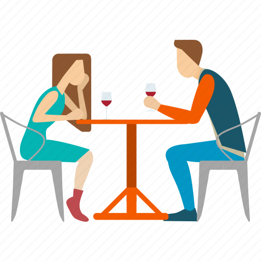 couple, date, dinner, dinning, lover, romantic, wine icon