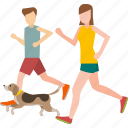 couple, exersise, healthy, jogging, lover, run icon