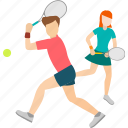 activity, couple, fun, healthy, lover, sport, tennis icon