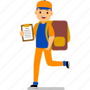 character, worker, courier, logistic, parcel, express, delivery