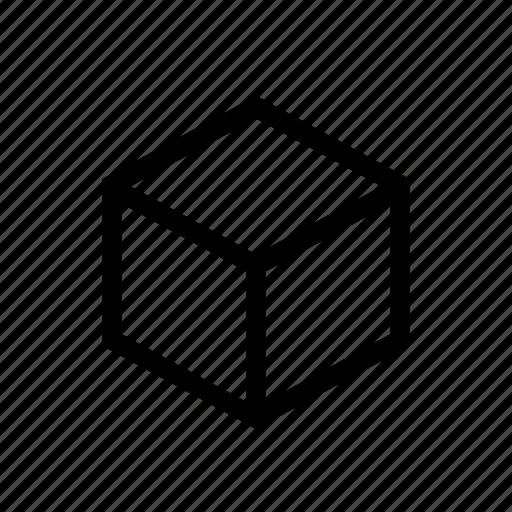 box, courier, cube, dice, square icon