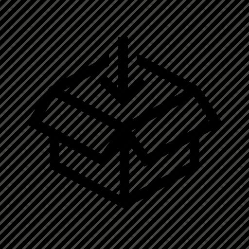 box, courier, fill icon