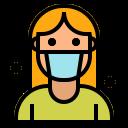 avatar, coronavirus, covid19, face, mask, sick, woman