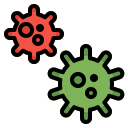bacteria, cell, coronavirus, covid19, infection, virus icon
