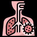 bronchitis, coronavirus, covid, covid19, disease, lung, pneumonia icon