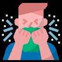 coronavirus, covid19, sick, cough, sneeze icon