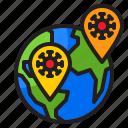 world, covid19, global, coronavirus, location