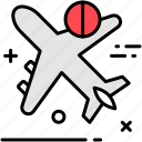 air, avoid, traveling icon
