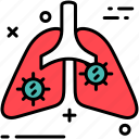 corona, infection, lungs icon