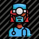 avatar, covid-19, mask, medical, nurse, profile, user