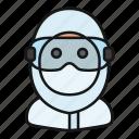 avatar, mask, medical, protection, scientist, suit, virus