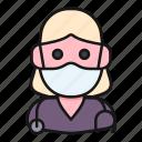 avatar, doctor, health, mask, medic, nurse, woman