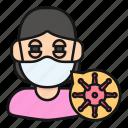 avatar, coronavirus, infected, infection, people, sick, woman