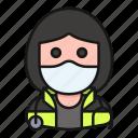 avatar, health, mask, paramedic, profession, woman