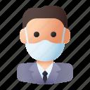 avatar, businessman, job, leader, manager, mask, worker