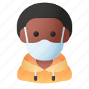avatar, man, mask, people, person, profile, user