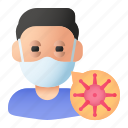 avatar, coronavirus, infected, infection, man, people, sick