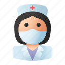 avatar, health, hospital, mask, nurse, profession