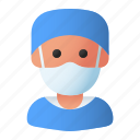 avatar, doctor, health, mask, medic, people, surgeon