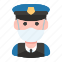 avatar, guard, mask, police, policeman, profession, security