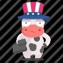 animal, big, brother, cow, emoji, emoticon, sticker icon
