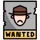bandit, miscellaneous, poster, reward, wanted icon