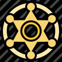 authority, badge, cowboy, police, sheriff