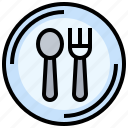 cooking, cutlery, food, fork, restaurant, spoon icon