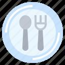 cutlery, food, fork, restaurant, spoon icon