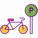 bicycle, bike, parking, sign icon