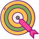 aim, arrow, darts, target icon