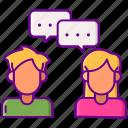 communication, dialogue, interaction, talk