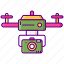 drone, electronic, fly, technology icon