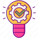 bulb, creative, gear, idea icon