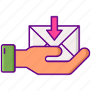 handling, inbox, letter, mail icon