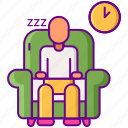 nap, room, sleep, time icon