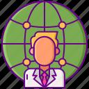 globe, internet, networking, website icon