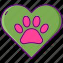 dog, friendly, paw, pet icon