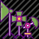 equipment, lighting, photography, photoshoot icon