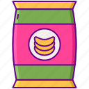 chips, food, junkfood, snack icon